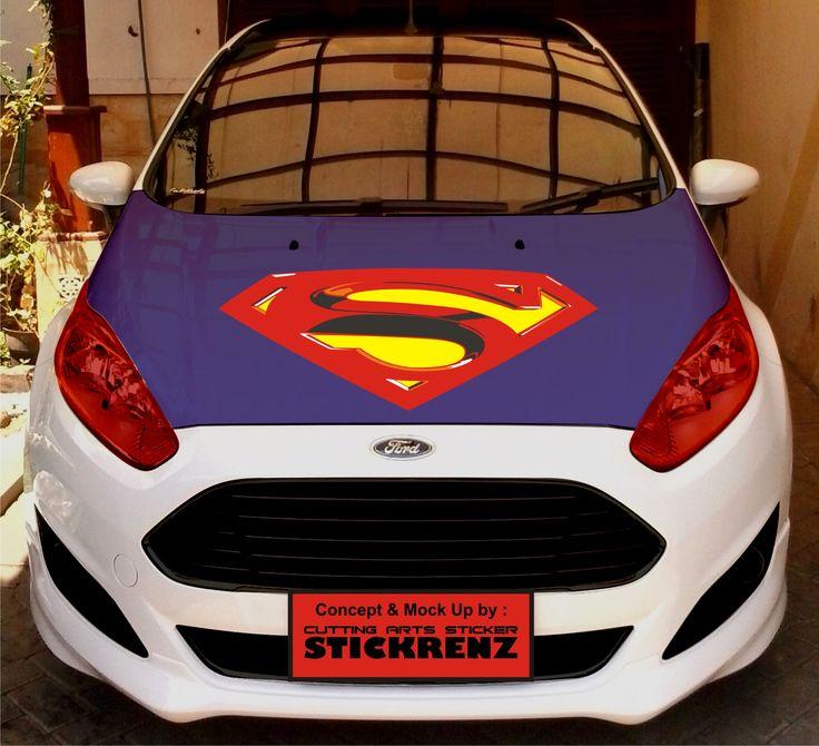 Car Custom Hood Cutting Sticker Concept - Fiesta 011