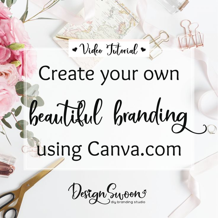 Editing our diy branding templates for Facebook, Etsy, Business Cards, Hang Tags, Sticker designs using Canva. Design Swoon Creative Co.