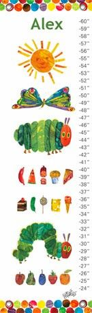 """""""Eric Carles The Very Hungry Caterpillar (TM)"""" personalized growth chart with Oopsy Daisy, Fine Art for Kids $49"""