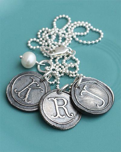 vintage silver charms necklace (rts)