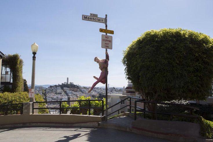 Do you dare? We do!!! San Francisco...Photographer: @nishasondhe Model: Natalie Carey #Enlightenment #ss15 #poleArt