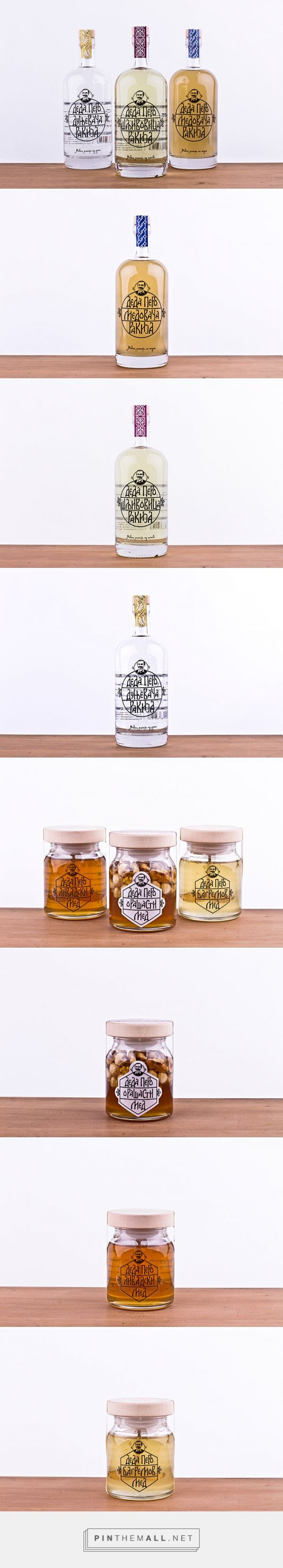 Deda Pero rakia and honey by Atelje Studio. Source: Daily Package Design Inspiration. Pin curated by#SFields99 #packaging #design #inspiration #ideas #branding #alcoholic #beverages #honey