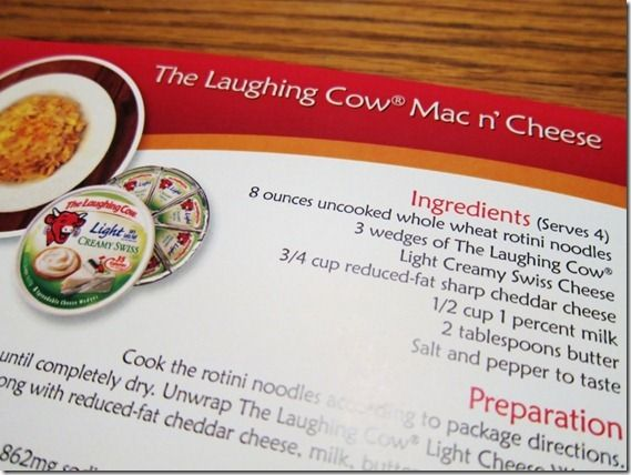Laughing Cow Mac & Cheese (still not great for you)  Suggests to serve with sweet potato wedges & ketchup