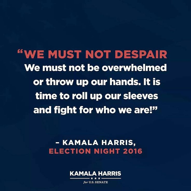Kamala: a leader with a great future ahead of her.