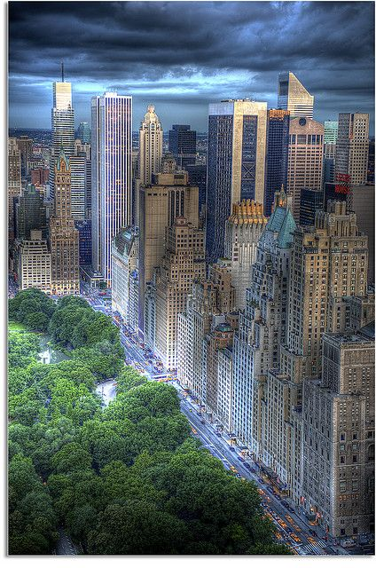 NYC. 59th Street/Central Park South in the New York City borough of Manhattan runs east-west, from York Avenue/Sutton Place to the West Side Highway, with a discontinuity between Ninth Avenue/Columbus Avenue and Eighth Avenue/Central Park West where the Time Warner Center is located.