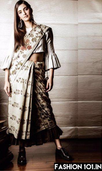 A Sari like a Skirt? Try these New Sari Draping Styles This Season!