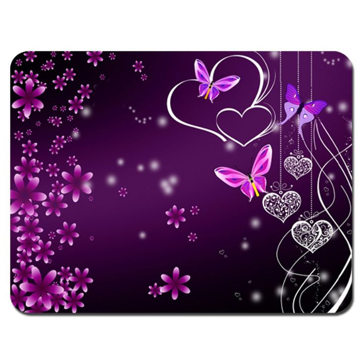 Customized Razer Pink Purple Butterfly Design Anti-Microbial Mat Non-Slip Large Mouse Pad Gaming MousePads customizable gift #Affiliate