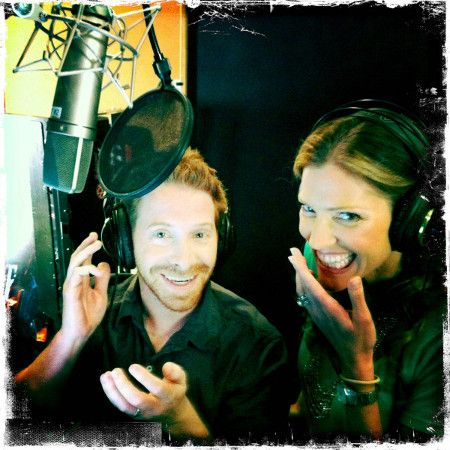 Seth Green (Joker) and Tricia Helfer (EDI)