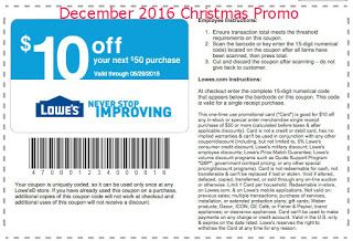 Lowes Home Improvement coupons december