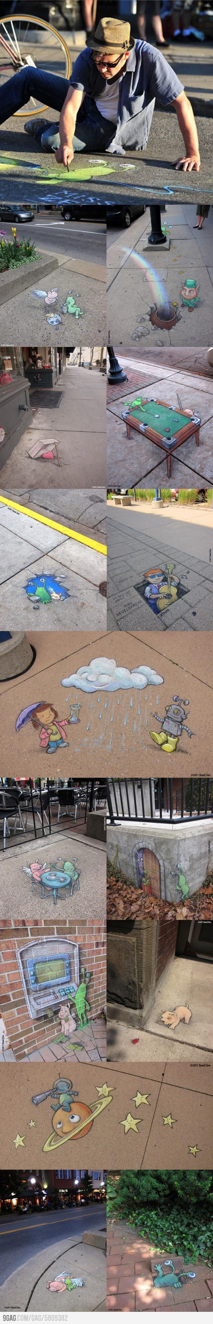 Awesome chalk art