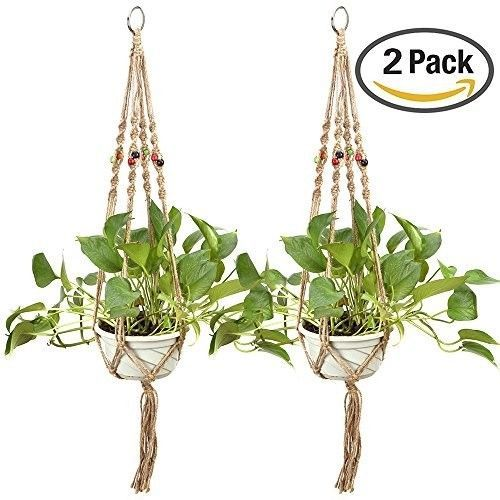 2-Pack-Plant-Hanger-Indoor-Outdoor-Balcony-Ceiling-Patio-Deck-Round-Square-Pots