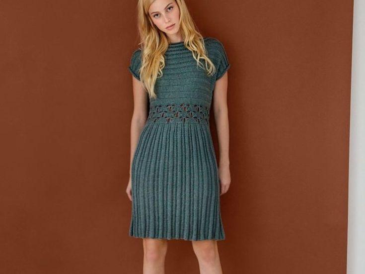 DIY-Anleitung: Kleid mit durch Lochmuster abgesetzte Taille stricken via DaWanda.com