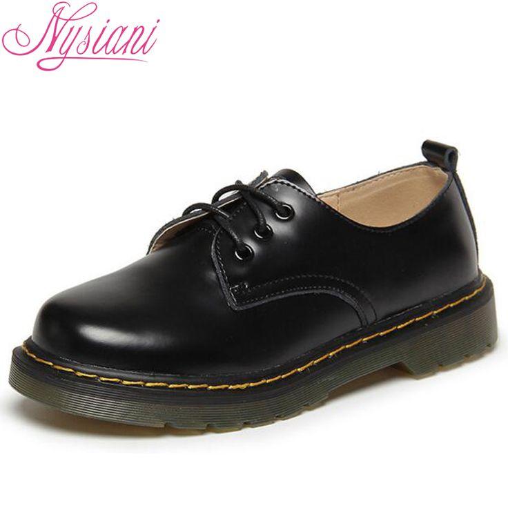 Купить товарNysiani Женщины Натуральная Кожа Ретро Обувь Осень Мода…