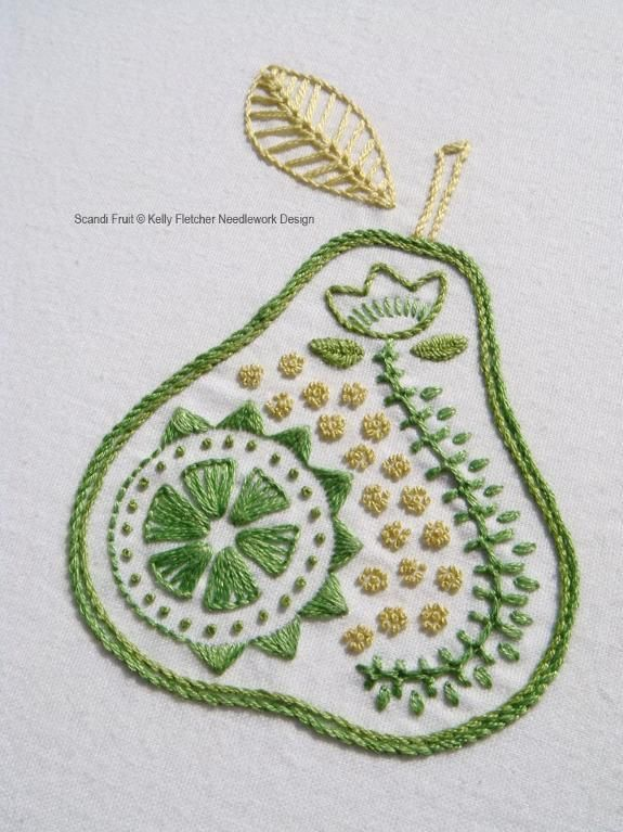 (10) Name: 'Embroidery : Scandi Fruit