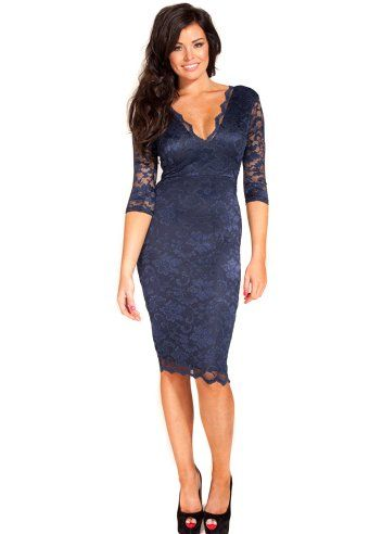 Jessica Wright Tara Dress Navy Lace Dress Jessica Wright Dresses