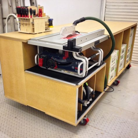Best 25 rolling workbench ideas on pinterest for Table saw workbench woodworking plans