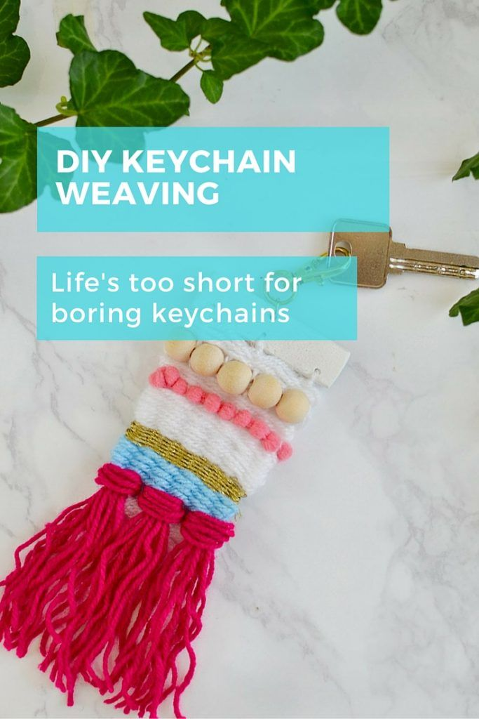 Life's too short for boring keyrings! Get your weave on with this super cute keychain.  Perfect (and most stylish way) to recognising your suitcase, or backpack or for putting on any handbag. #diy #keychain #bagaccessory #jewellery
