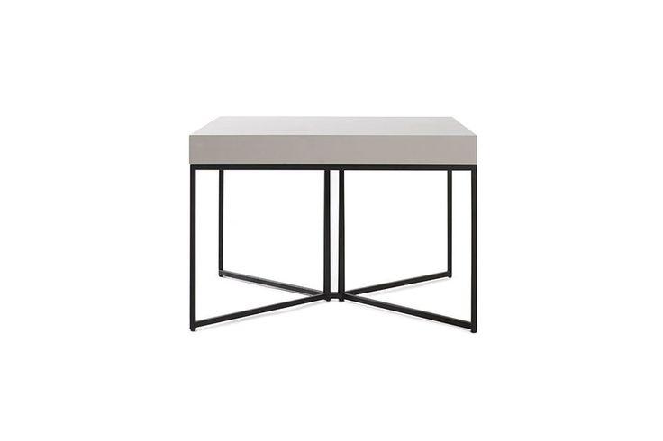 Table basse design taupe mat et noir YTA - Ixina