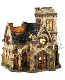 Could use this same technique to make fairy houses or easter houses Creating Your Own Halloween Village Pieces