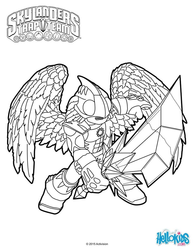 skylander flashwing coloring pages - photo#29
