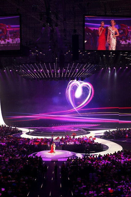 """""""Feel Your Heart Beat"""" The arena in Düsseldorf for the 2011 Eurovision Song Contest"""