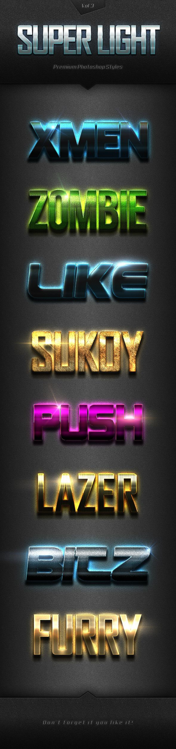 Super Light Text Effects for Photoshop
