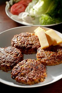 The Chubby Vegetarian: Simple and Easy Porcini Mushroom Veggie Burgers