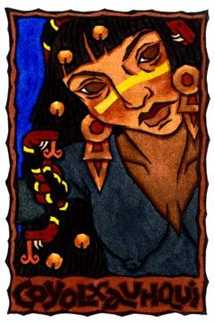 Coyolxauhqui, Aztec Goddess of the Moon by Thalia Took                                 Do not dishonor yourself.