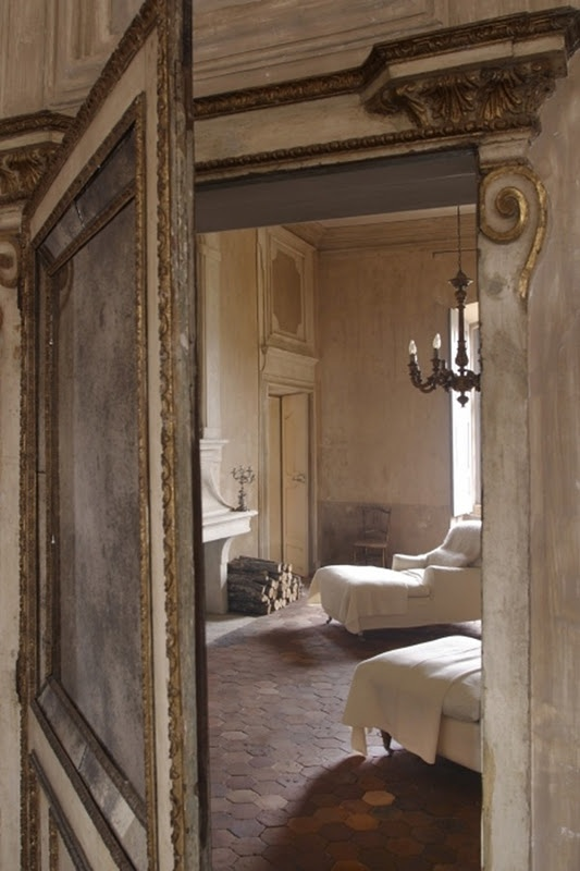 A Secret Door In Paneling With A Mirror For The Home