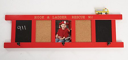 Fire Dept Wall decor-- I could make that! Mason's room!