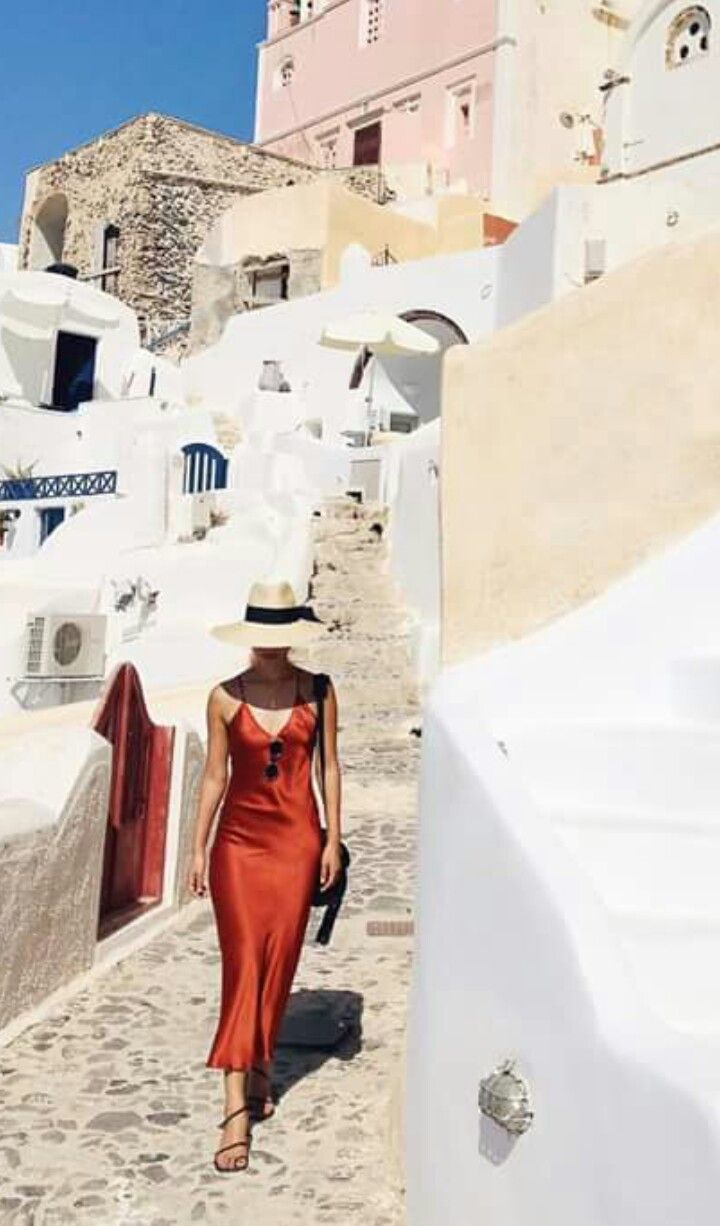 Gary Pepper girl in Santorini. Amazing style!