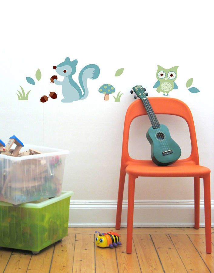boy's forest wall stickers by the little blue owl | notonthehighstreet.com