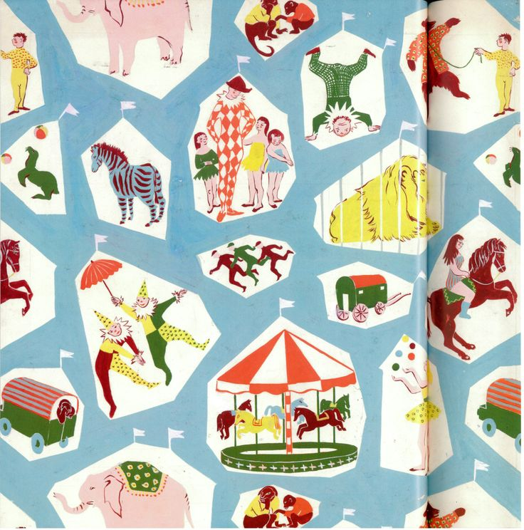 Judith Kerr textiles- such a unique talent!
