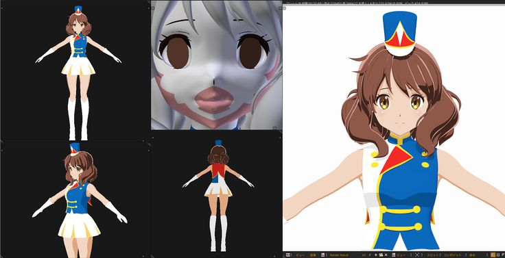 Blender Character Modeling 8 Of 10 : D anime character body proportions face tips