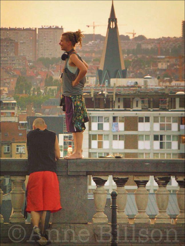 Rode broek: Poelaertplein, Brussel.