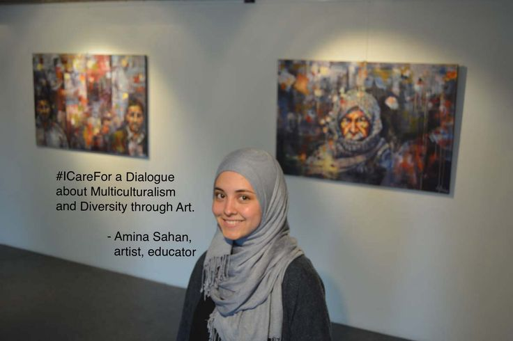 """My name is Amina Sahan, I'm an artist and educator from Norway. I care for a dialogue about multiculturalism and diversity through art.""  In 2016 Amina Sahan took part in the 2nd International Juried Exhibition ""Show Your World"" curated by RE:ARTISTE..."