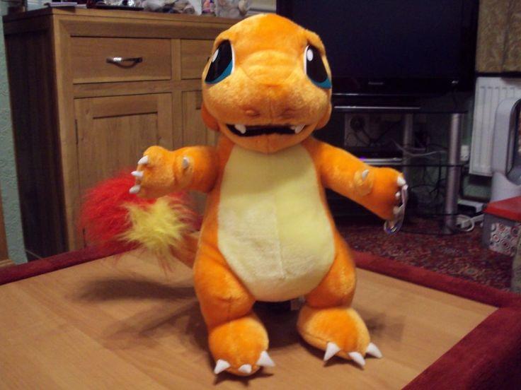"Rare large NIntendo Pokemon Charmander original 19"" high plush toy play by play"