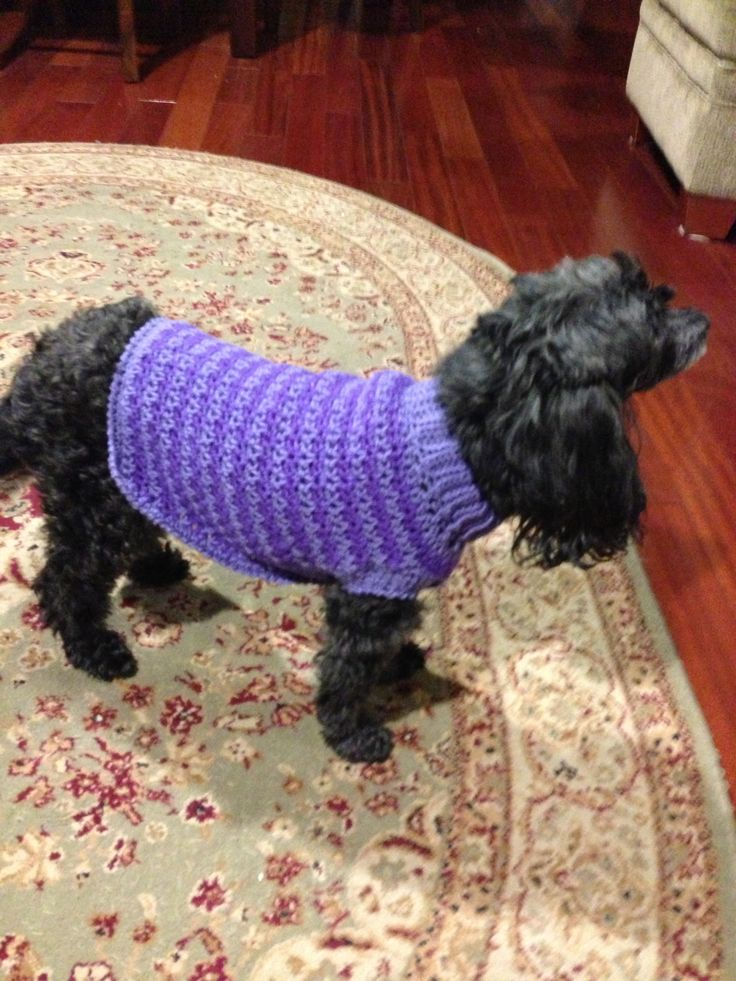 Dog Coat Knitting Pattern : Doggie sweater red heart free pattern i love crochet