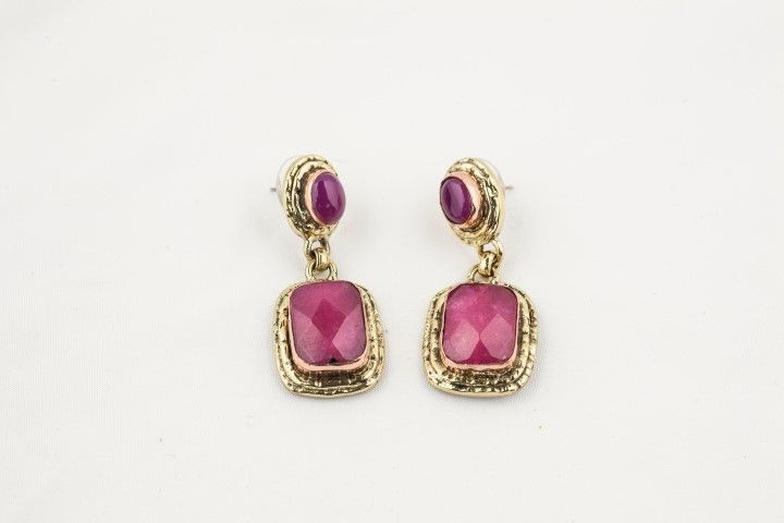 Earrings with natural stones Pink - EmKha