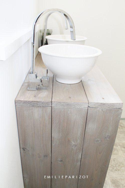 carreaux de ciment et bois