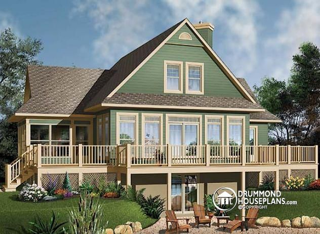 194 best lakefront cottage & home plans, country cottage house