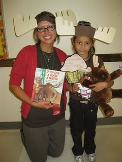 If You Give a Moose a Muffin=book parade costumes for kids that come without dressing up..make ahead and keep in a box for them to choose from