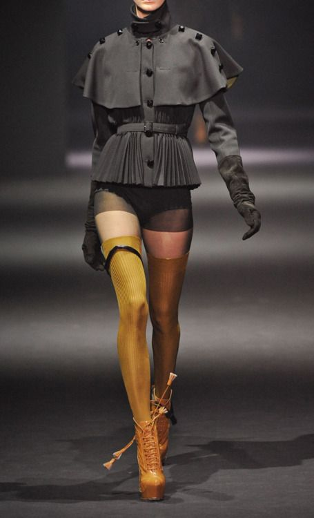 What did I ever do to deserve looking at an outfit this ugly, lol. John Galliano