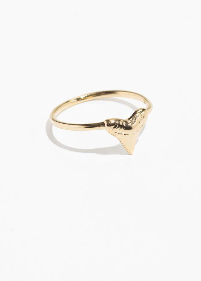 Gold vermeil Mini Shark Jawbone Ring