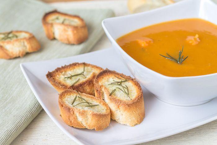 Rosemary sweet potato cream soup