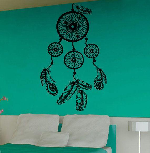 Wall Decals Dream Catcher Amulet Indian by DecalMyHappyShop