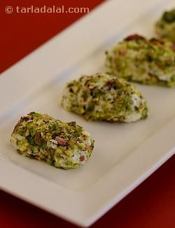 It is so rich and luscious that you might think it is difficult to make! you will be pleasantly surprised to know that paneer pistachio rolls can be prepared within minutes. The paneer gives the rolls a lovely texture and the roasted pistachios ensure a wonderful crunchiness, while the rose essence imparts a pleasant fragrance and flavour. This sweet is always a great hit!