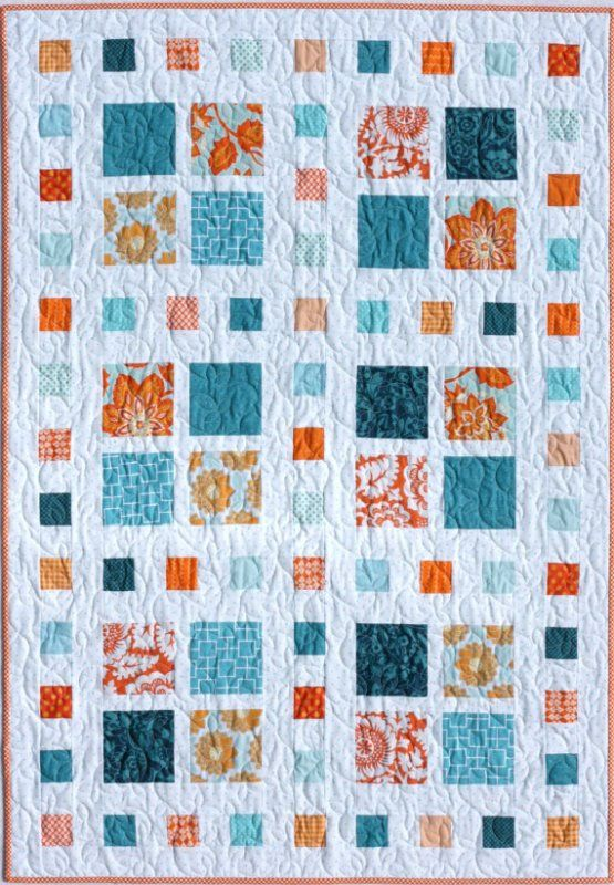 Quilt Patterns Using 6 Inch Squares : Square Dance Quilt Kit + Pattern charms plus 2.5 in squares and 1.5 inch sashing Quilts ...