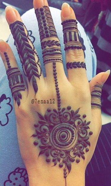 Love the unique fingers. Contemporary henna #henna #mehndi - bad ash
