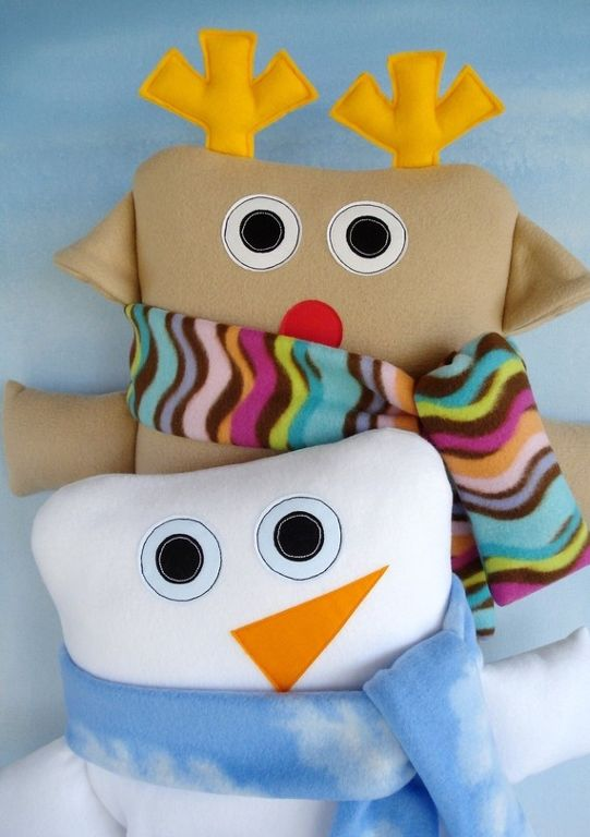 Reindeer & Snowman Pillows